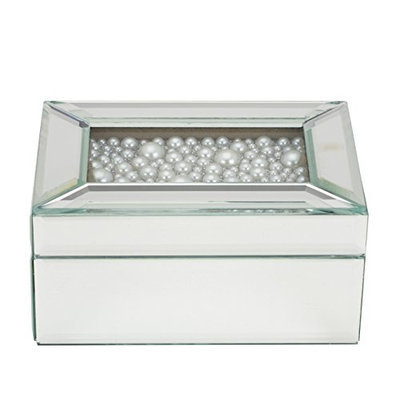 Danielle Pearl Top Mirrored Jewelry Box