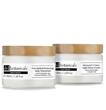Dr Botanicals Advanced 12 Hour Night Detox Cream and Free Radical Protecting Daily Moisturiser