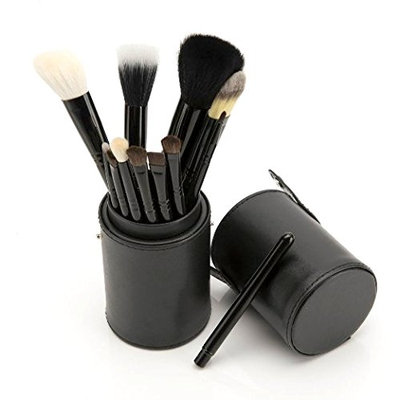 PuTwo Make Up Brushes 12 Piece Set with Make Up Brush Holder - Black