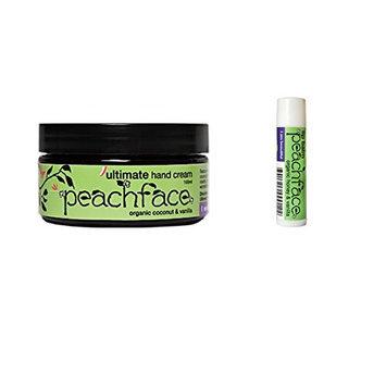 Peachface Hands and Lips' Gift Set Ultimate Hand Cream and Sweet Heart Lip Balm Honey Vanilla
