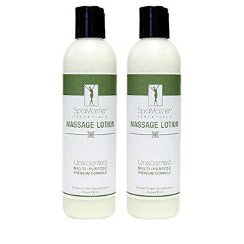 Master Massage Spamaster Essentials Unscented Massage Lotion Pack 8 Oz