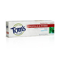 Tom's OF MAINE Peppermint Baking Soda Fluoride-Free Propolis & Myrrh Toothpaste