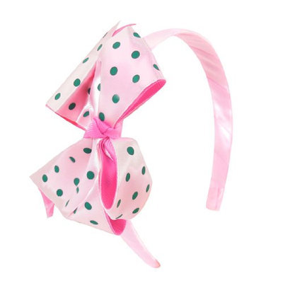 Uxcell Girls Polyester Fabric Bowknot Accent Hair Band Head Hoop