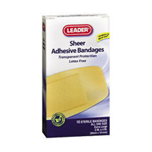 Leader Adhesive Bandage Strong Strips, 1