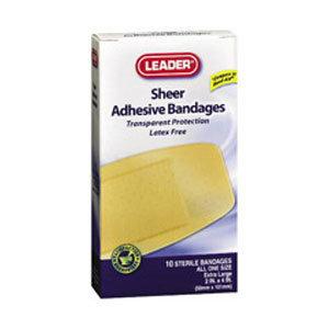 Leader Adhesive Bandage Strong Strips, 1