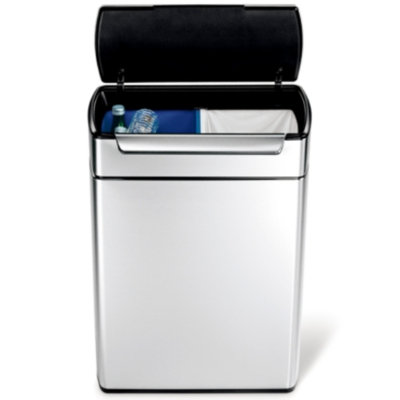 Simplehuman simplehuman Stainless Steel Touch-bar Recycle Can