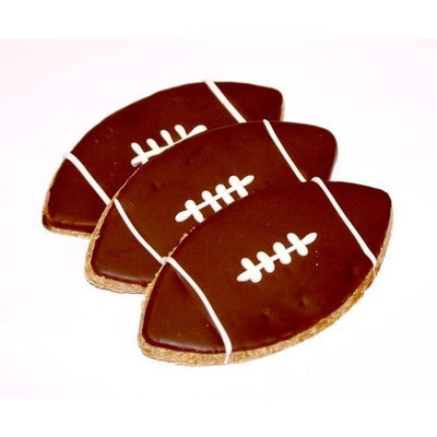 Pawsitively Gourmet Football Cookies for Dogs-Chicken Liver Recipe (Pack of 20)