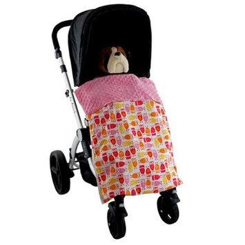 Blue Baby Bum Cute Owls Stroller Blankie Pink