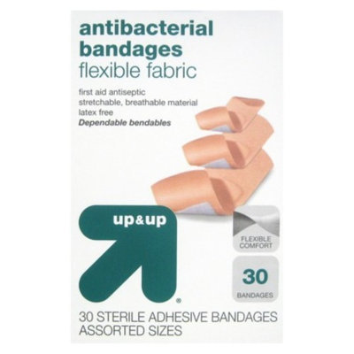 Assorted Sizes Flexible Fabric Bandages 30 ct - up & up™