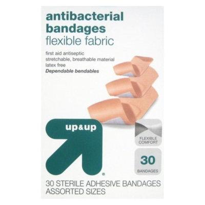 Assorted Sizes Flexible Fabric Bandages 30 ct - up & up™
