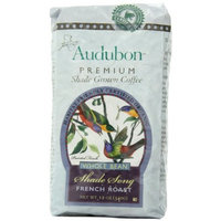 Audubon Premium Shade Grown Coffee Audubon Whole Bean Coffee, Shade Song French Roast, 12 Ounce (Pack of 3)