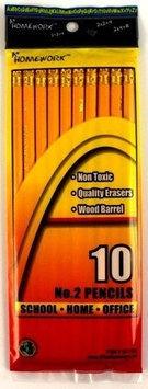 Bulk Buys Pencils - No. 2 - 10 count - Case of 48