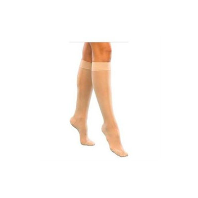 Sigvaris Women's Sheer Fashion 15-20 mmHg Closed Toe Knee High Sock Size: C (10-12), Color: Taupe 29