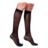 Sigvaris 770 Truly Transparent 20-30 mmHg Women's Closed Toe Knee High Sock - Size: S4, Color: Black 99