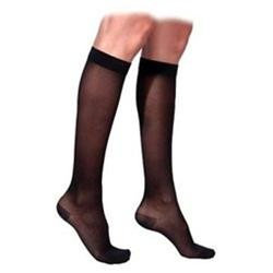Sigvaris 770 Truly Transparent 20-30 mmHg Women's Closed Toe Knee High Sock - Size: S2, Color: Suntan 36