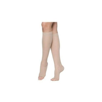 Sigvaris 770 Truly Transparent 20-30 mmHg Women's Open Toe Knee High Sock - Size: S4, Color: Suntan 36