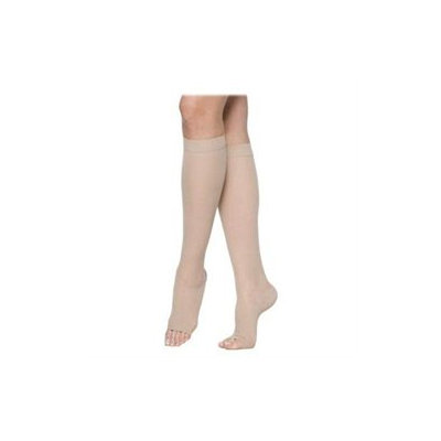 Sigvaris 770 Truly Transparent 20-30 mmHg Women's Open Toe Knee High Sock - Size: M4, Color: Natural 33