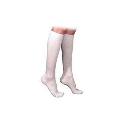 Sigvaris 230 Cotton Series 20-30 mmHg Women's Closed Toe Knee High Sock - Size: M4, Color: White 00