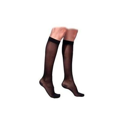 Sigvaris 770 Truly Transparent 20-30 mmHg Women's Closed Toe Knee High Sock - Size: M4, Color: Navy 08