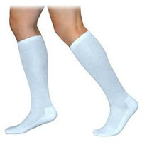Sigvaris 360 Cushioned Cotton Series 20-30 mmHg Women's Closed Toe Knee High Sock - Size: X1, Color: White 00