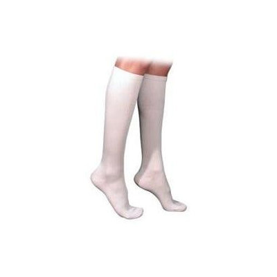 Sigvaris 230 Cotton Series 30-40 mmHg Women's Closed Toe Knee High Sock - Size: M3, Color: White 00