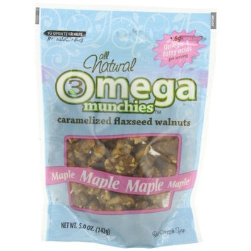 Good Sense Omega Munchies, Caramelized Flaxseed Walnuts, Maple, 5-Ounce Bags (Pack of 6)
