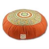 Relaxso Zafu Meditation Cushion, Toile Orange