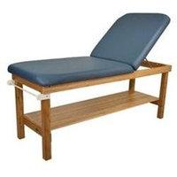 Oakworks 27 W Powerline Treatment Table with Backrest - Color: Blue Grass