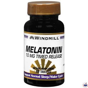 Windmill Melatonin Time Release 10 mg, 60 ea