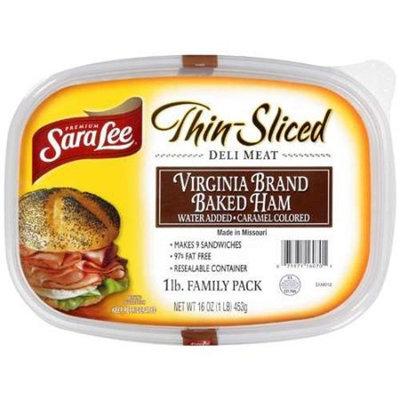 Sara Lee: Virginia Brand Baked Ham Water Added Deli Meat, 16 oz
