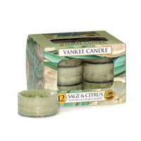 Yankee CandleA HousewarmerA Sage & Citrus Tea Light Accent Candles (Box of 12)