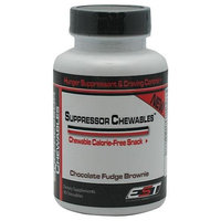 EST Nutrition Suppressor Chewables, Chocolate Fudge Brownie,Hunger Suppressant & Craving Control Tablets, 90 Count