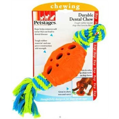 Petstages Durable Dental Chew Orange Blue and Green Dog Chewing Toy
