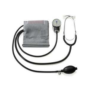 A & D Home Blood Pressure Kit with Attached Stethoscope