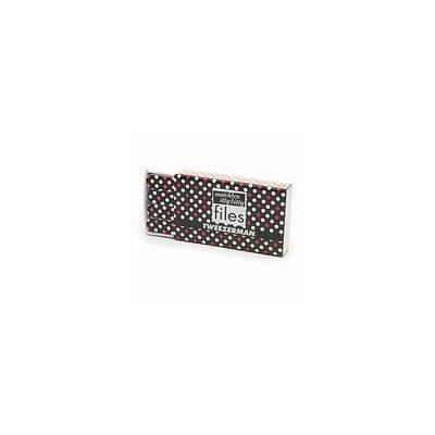 Tweezerman Matchbox Itty Bitty Files, Black with Pink & White Dots 1 set