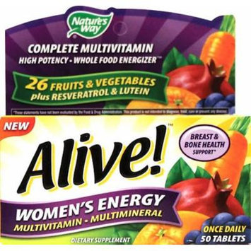 Nature's Way Alive! Women's Energy Multivitamin Multimineral - 50 tabs (PACK OF 2)