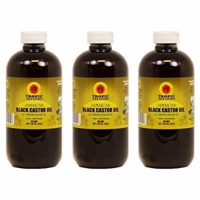 Jamaican Black Castor Oil 8 oz (Pack of 3)
