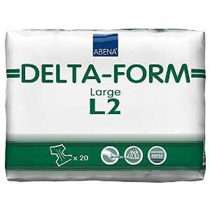 Abena Delta-Form Adult Brief Large L2. 20 ea