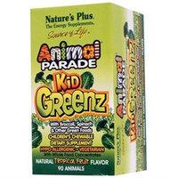 Nature's Plus - Animal Parade KidGreenz Chewable Tropical Fruit Flavor - 90 Chewable Tablets