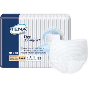 TENA Dry Comfort Protective Underwear, Large, 18 ea