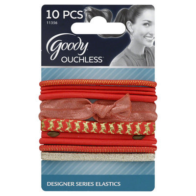 Goody Products Inc. Ouchless Designer Series Tiebacks, Coral, 10 CT