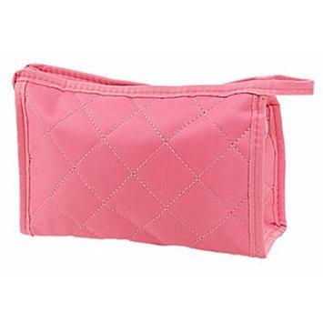 Rosallini Woman Pink Zipper Closure Small Pouch Cosmetic Case Bag