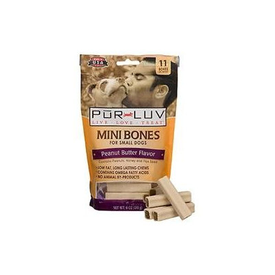 St Jon Lab/sergeant Pet Pur Luv Mini Bones Peanut Butter 11ct 6oz