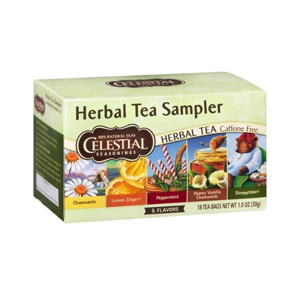 Celestial Seasonings Herbal Tea Sampler Caffeine Free Herbal Tea - 18 CT