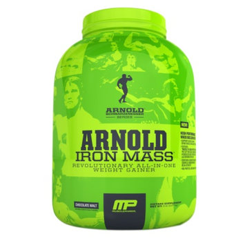MusclePharm Arnold Schwarzenegger Series Iron Mass, Chocolate Malt, 5 lb