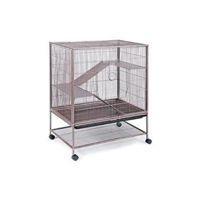 Prevue Pet Products Small Brown Metal Cage with Pull-out Bottom Tray