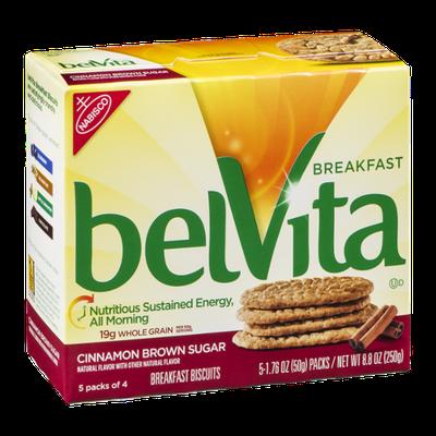 Nabisco BelVita Breakfast Biscuits Cinnamon Brown Sugar - 5 PK