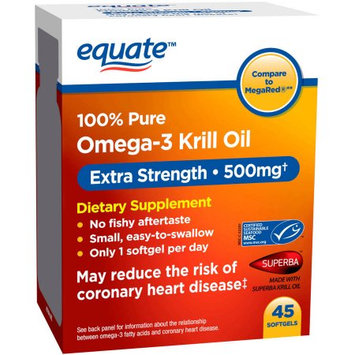 Wal-mart Stores, Inc. Equate Omega-3 Krill Oil Dietary Supplement Softgels, 500mg, 45 count
