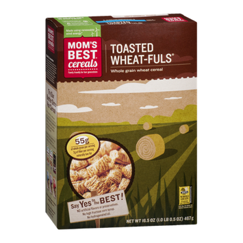 Mom's Best Toasted Wheat-Fuls Whole Grain Wheat Cereal