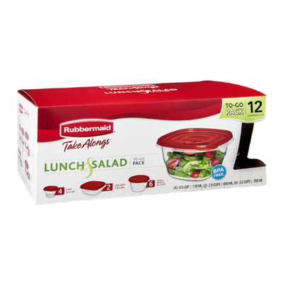 Rubbermaid TakeAlongs Lunch & Salad To-Go Pack - 12 CT